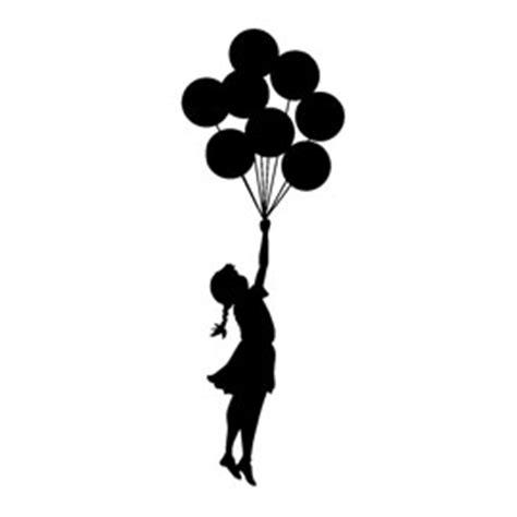banksy flying balloon girl stencil  stencil gallery