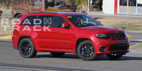 trackhawk jeep hellcat hellcat powered jeep grand trackhawk spied