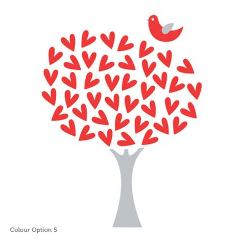 Hearts Wall Stickers heart tree wall sticker for girls room or nursery