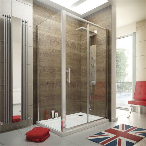 1200 X 800 Sliding Door Shower Enclosure Glass Cubicle Shower Tray And Door
