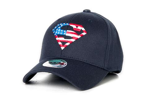 superman american flag baseball cap flexfit spandex hat