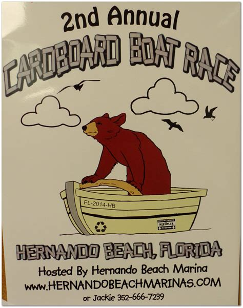 cardboard boat race florida second annual cardboard boat race in hernando beach