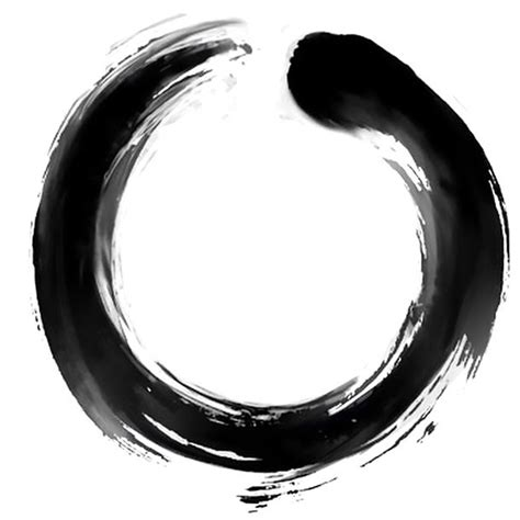 enso circle tattoo design brush strokes buddhism and