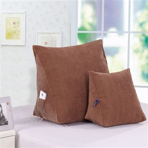 pillow in bed back rest cushions for watching tv new triangular bed
