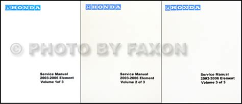 free car repair manuals 2006 honda element parental controls 2003 2006 honda element repair shop manual factory reprint