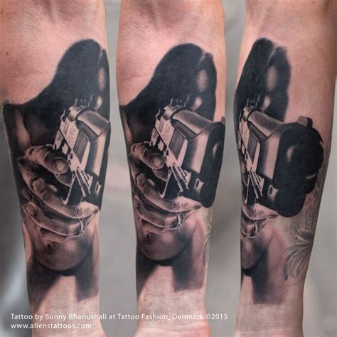 tattoo girl with gun girl with gun tattoo by sunny bhanushali at tattoo fashion