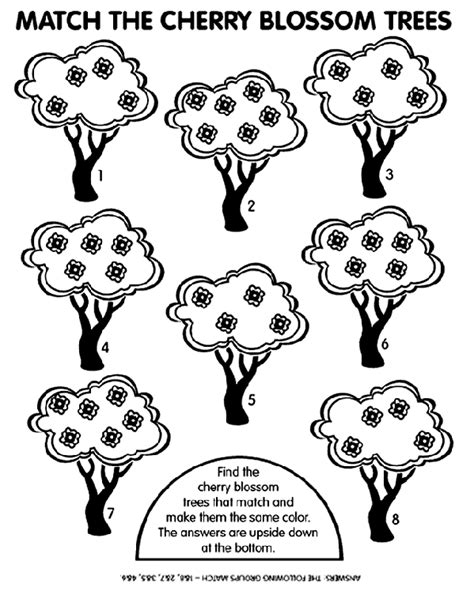 coloring page of a cherry tree cherry tree match crayola com au