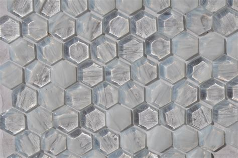 fusion brown pattern glass mosaic fusion glass ivory white hex pattern 01f glass tile home