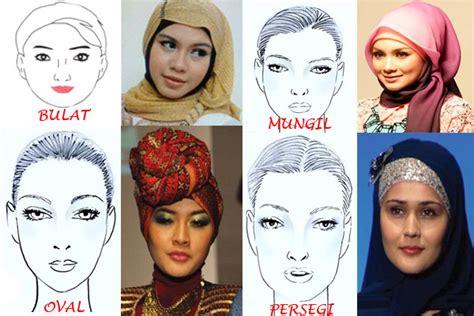 tutorial cara memakai hijab untuk wajah bulat penggunaan hijab sesuai bentuk wajah tutorial pashmina