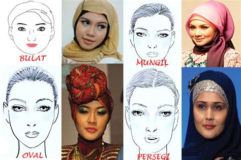 Jilbab Instan Yg Cocok Untuk Wajah Bulat tutorial sesuai bentuk wajah