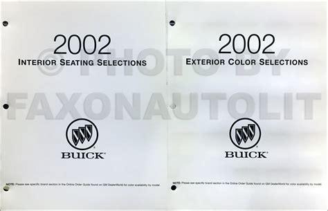 best car repair manuals 2002 buick regal electronic valve timing 2002 buick regal century repair shop manual original 3 volume set