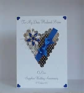 45th 65th sapphire wedding anniversary card husbandfriends etc personalised ebay