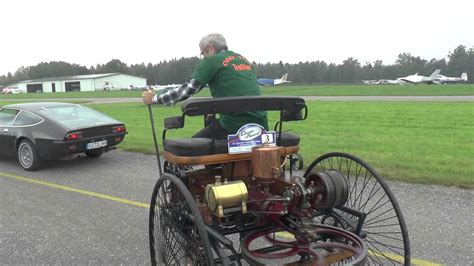 first mercedes benz 1886 benz patent motorwagen no 1 in action youtube