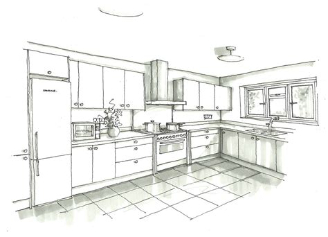 kitchen drawing design attractive home design