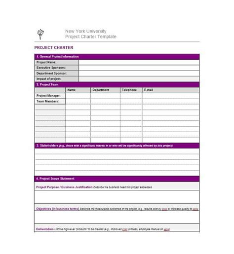team charter template sle business unit charter template best picture of chart