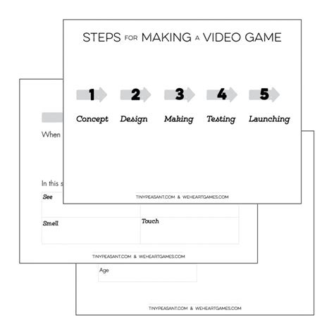 tiny peasant video game design template