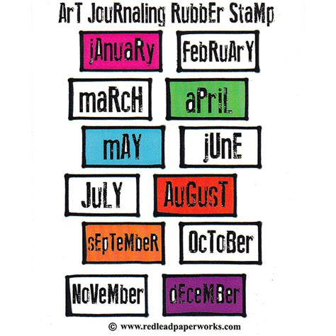 red lead art journaling cling mount rubber stamp every