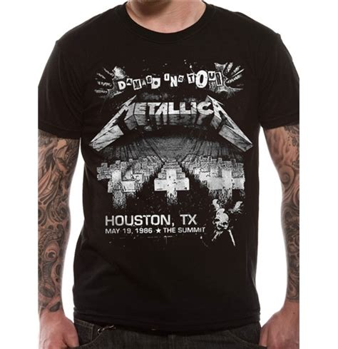 Kaos Band Metallica Merchandise Official 05 metallica official merchandise gadgets tshirts