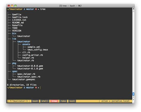 tmux layout names instant rails dev environments with tmuxinator and foreman