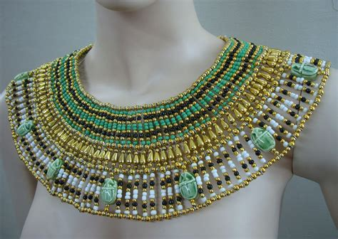 ancient egyptian cleopatra collar necklaces x large egyptian queen cleopatra necklace 9 scarab by thenile