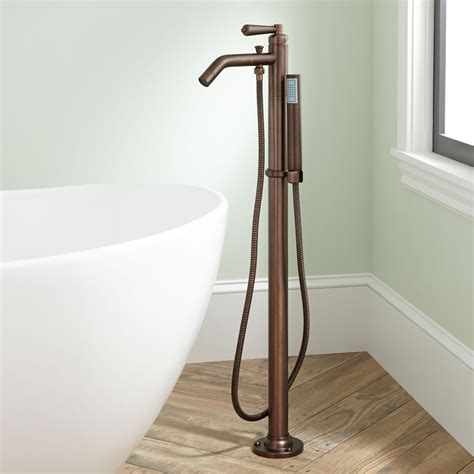 freestanding tub with shower freestanding tub faucet and shower bathroom