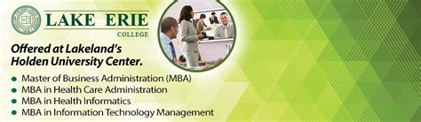 Lake Erie College Mba Curriculum by Holden Center Home Mylakeland