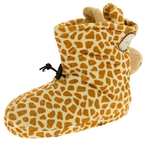 giraffe slippers uk de fonseca giraffe novelty slipper boots womens