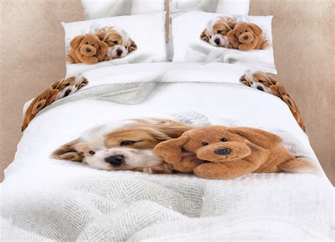 puppy bedding doggies bedding dogs animal print duvet cover set by dolce mela