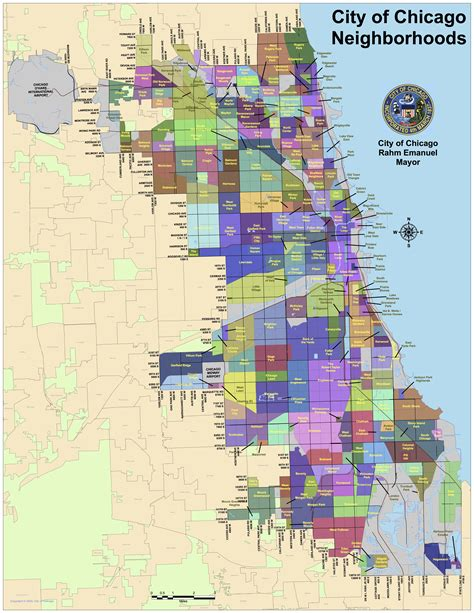 chicago city map how are chicago neighborhoods formed wbez