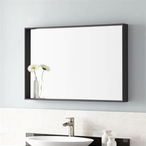 35 quot caillen stainless steel vanity mirror framed mirrors