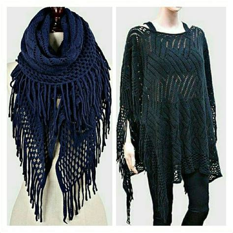 Sweater Ak Sweater Wanita Babyterry Navy 6 navy blue sweater poncho scarf nwt gorgeous navy blue crochet sweater poncho that can also be