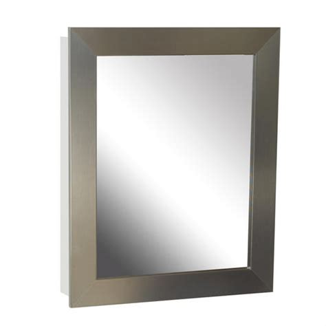 Brushed Nickel Medicine Cabinet Zenith 24 Quot Brushed Nickel Swing Door Medicine Cabinet