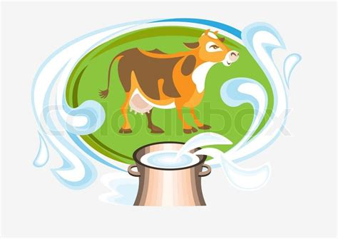 Storage Box Colour Sapi Cow Cow Stock Vector Colourbox