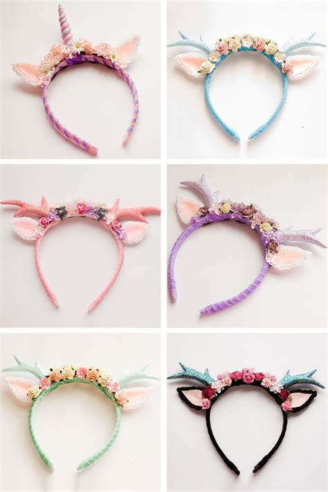 Handmade Headband Ideas - 20 amazing unicorn birthday ideas for