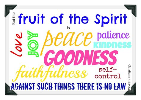 fruit 0f the spirit grow the fruit of the spirit is peace play eat grow