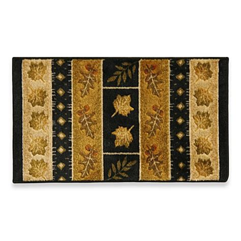 Black And Gold Bathroom Rugs Bacova Southview Rug In Gold Black Bed Bath Beyond