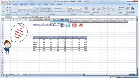 vlookup tutorial video in hindi how to use vlookup in multiple sheet in hindi youtube