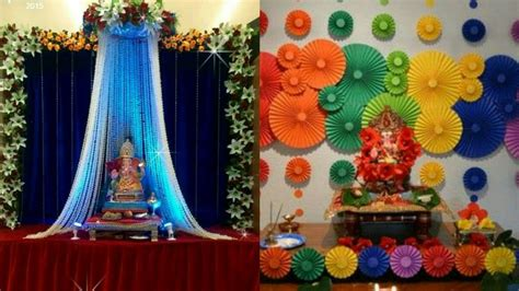 In The Decorations by Ganpati Decoration Ideas Table Decoration For Ganesh