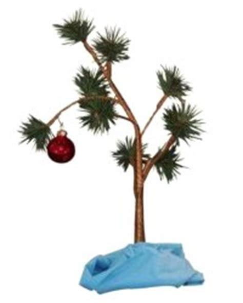 make a scrawny charlie brown christmas tree