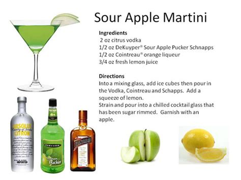 sour apple martini martinis midnight mixologist