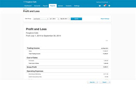 profit loss in tally9 accounting software