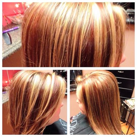 pictures of dimensional hair colors red blonde and brown hair multi dimensional color multi