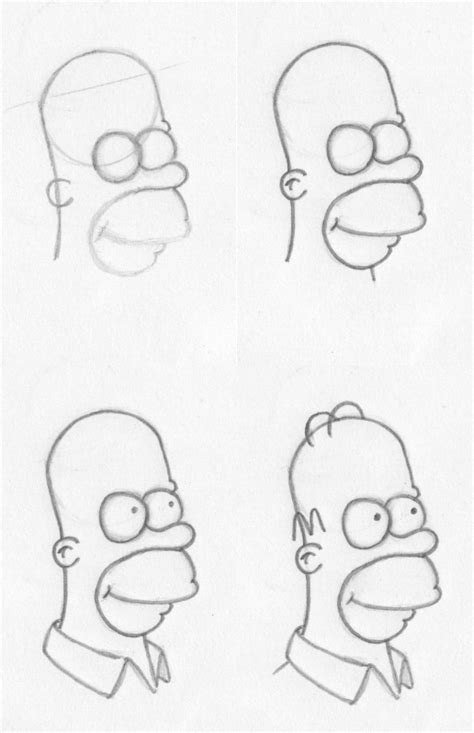 How To Draw The Simpsons On The by How To Draw Insert Character How To Draw Homer