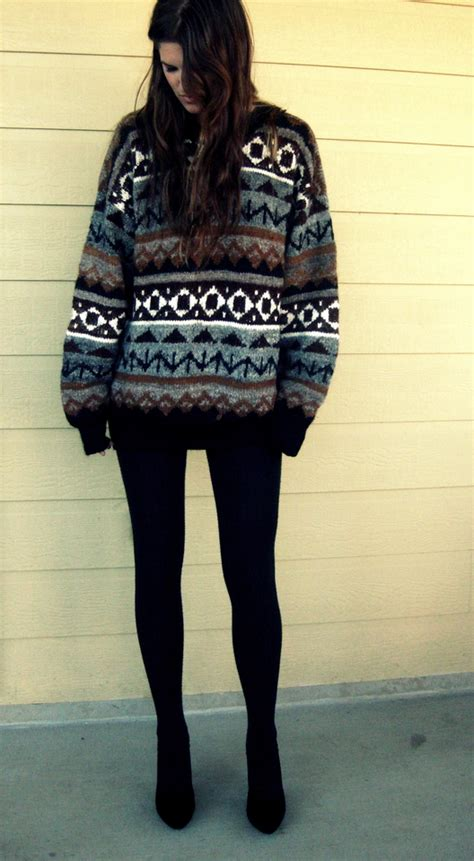 big sweaters r big sweater american apparel navy tights jumper lookbook