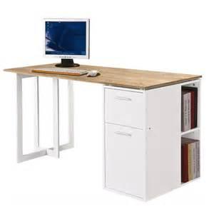 bureau bureau moderne blanc plateau bois