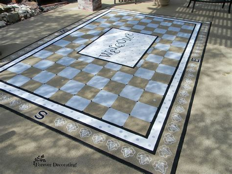 Forever Decorating!: Painted Patio Rug!