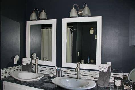 dark painted bathrooms remodelaholic black white painted bathroom remodel