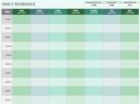 Free Daily Schedule Templates For Excel Smartsheet Scheduling Templates