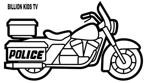 police bike coloring pages colors for kids with police