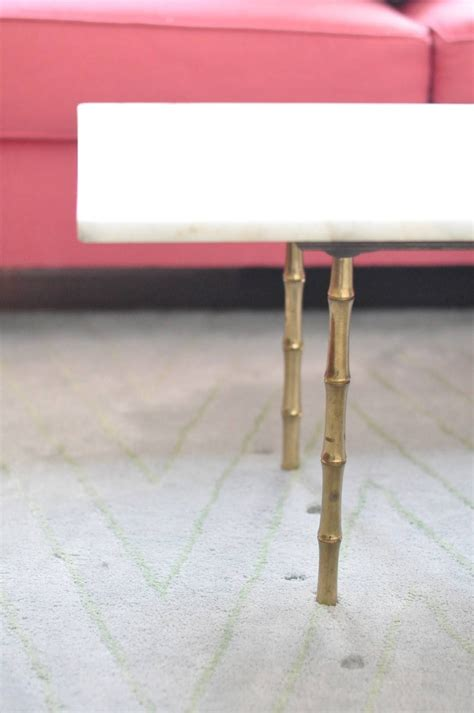 30 collection of gold bamboo coffee tables